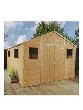 mercia-12-x-10ft-premium-tongue-amp-groove-apex-workshop-with-6-windows-double-door-tampg-roof-amp-floor-assembly-included