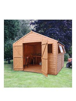 mercia-10nbspx-10ft-premium-tongue-amp-groove-apex-workshop-with-6-windows-double-door-tampg-roof-and-floor-assembly-included