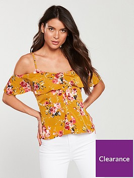 v-by-very-cold-shoulder-button-through-cami-print