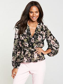 v-by-very-button-front-peplum-blouse-black-floral
