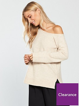v-by-very-asymmetric-rib-hem-off-the-shoulder-jumper-oatmealnbsp