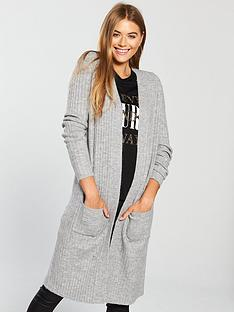 v-by-very-longline-rib-cardigan-grey-marl