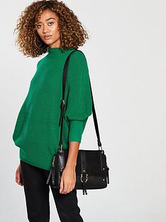 v-by-very-funnel-neck-ribbed-jumper-evergreen