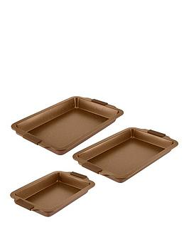 tower-cerastone-3-piece-non-stick-roaster-set-gold