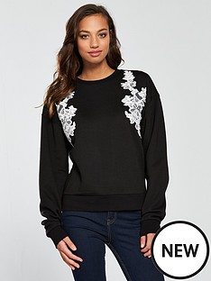 v-by-very-lace-applique-sweat