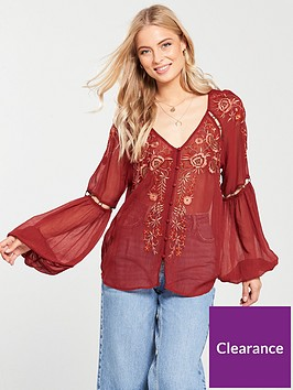 v-by-very-embroidered-eyelet-top-red