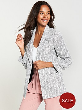 v-by-very-ponte-boucle-blazer-mono