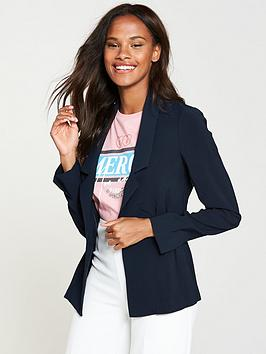 v-by-very-soft-button-detail-jacket-navy
