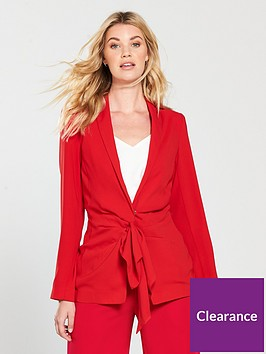 v-by-very-tie-front-jacket-red