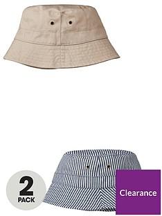 v-by-very-boys-2-pack-sunhats-blue-stripepink