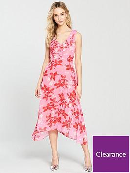 wallis-ruffle-hanky-hem-midi-dress-pinknbsp