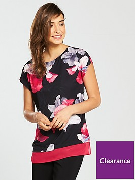 wallis-orchid-floral-satin-front-shell-t-shirt