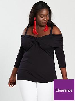 v-by-very-curve-knot-front-cold-shoulder-top-blacknbsp