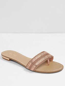aldo-cadilinnaw-flat-slide-sandal-wide-fit-metallic