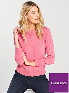 v-by-very-supersoft-crew-neck-cardigan-pink