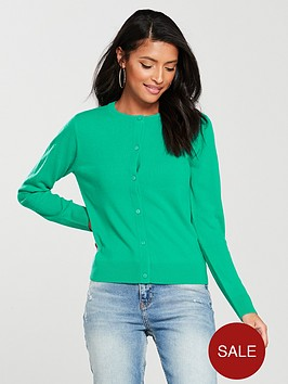 v-by-very-supersoft-crew-neck-cardigan-green