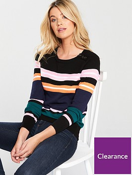 v-by-very-button-rib-detail-jumper-stripe