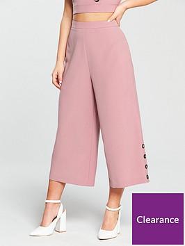 miss-selfridge-petite-culotte-button-trouser-pinknbsp