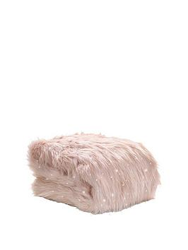 Catherine Lansfield Catherine Lansfield Metallic Faux Fur Throw Picture