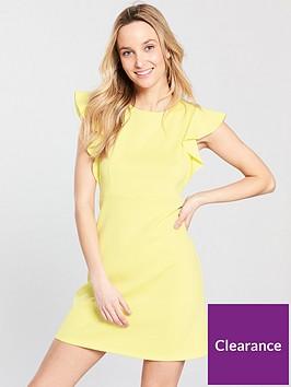 miss-selfridge-scuba-a-line-dress-yellow