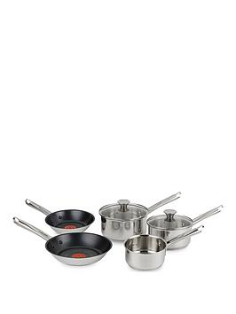 Tefal Tefal H054S544 Elementary Induction 5-Piece Pan Set - Stainless Steel Picture