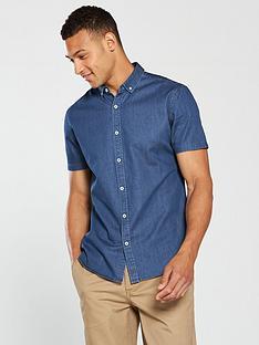 v-by-very-short-sleeved-denim-shirt