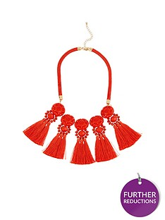 v-by-very-statement-tassel-necklace-orange