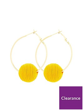 v-by-very-wrapped-ball-hoop-earring-yellow