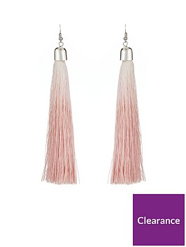 v-by-very-ombre-tassel-earrings-pink