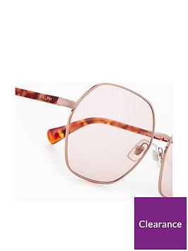 b79de6a3a4 Ralph Lauren Hexagonal Sunglasses - Pink Tortoiseshell