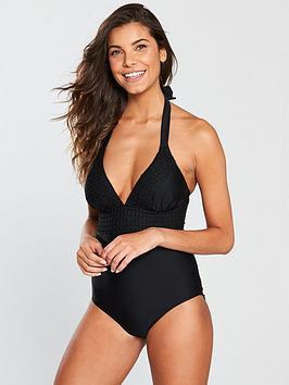 v-by-very-crochet-trim-swimsuit-black