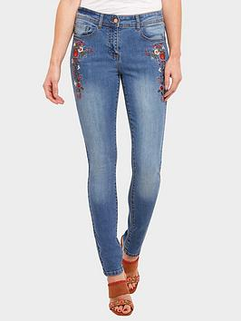 4bbe77dec Joe Browns Floral Embroidered Jeans - Light Wash