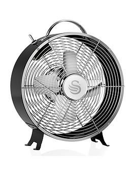 swan-sfa12630bn-8-inch-clock-fan-black