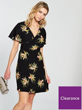 warehouse-tropical-bunch-wrap-dress