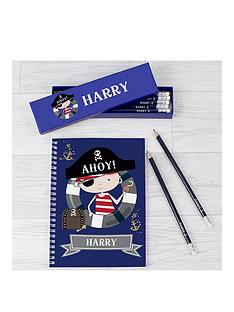 personalised-pirate-pencils-in-a-box-and-matching-note-pad