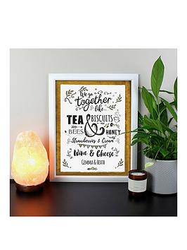 Very Personalised We Go Together Like... Black Poster Frame Picture