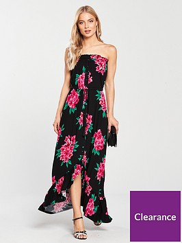 v-by-very-petite-dip-back-button-through-jersey-dress-floral-print