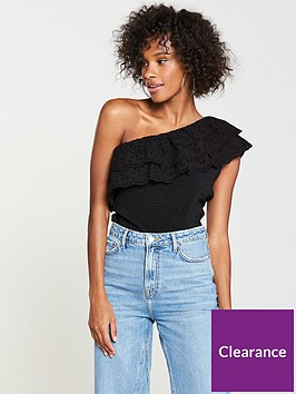 v-by-very-one-shoulder-broderie-anglais-top-black