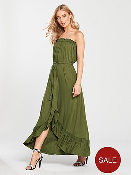 v-by-very-dip-back-button-through-jersey-dress-khaki