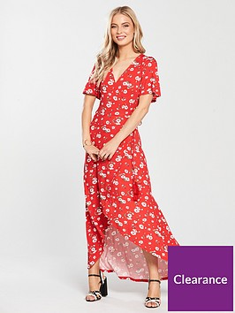 v-by-very-tall-dip-back-wrap-jersey-maxi-dress-red-floral