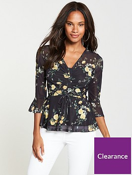v-by-very-mesh-drawstring-front-top-ditsy-print