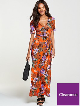 v-by-very-petite-deep-v-jersey-maxi-dress-tropical-print