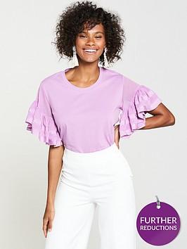 v-by-very-chiffon-frill-sleeve-t-shirt-lilac