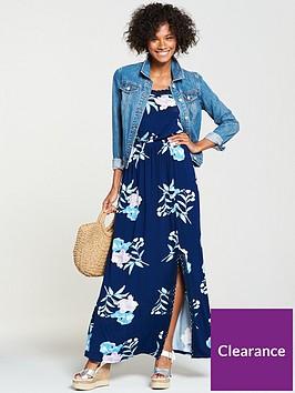 v-by-very-macrame-trim-jersey-maxi-dress-navy-floral