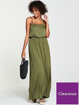 v-by-very-macrame-trim-jersey-maxi-dress-khaki