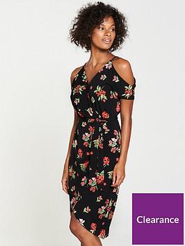 v-by-very-wrap-cold-shoulder-jersey-dress-black-floral