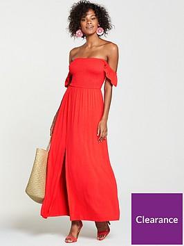 v-by-very-bardotnbspjersey-maxi-dress-orange