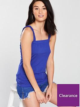 v-by-very-bubble-hem-vest-top-electric-blue