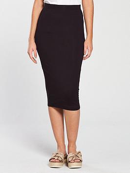 v-by-very-midi-basic-bodycon-skirt-black