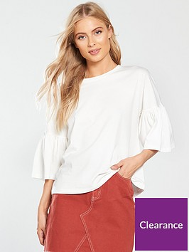 v-by-very-frill-sleeve-slouchy-t-shirt-ivory
